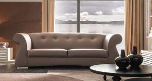 Odra-Quilt Art. 649-Q, Sofa mit einem klassischen und harmonischen Design