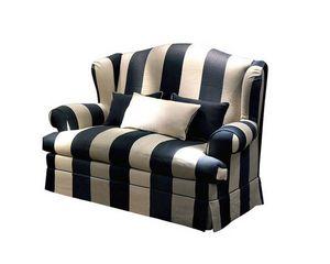 Ottone, Klassisches Sofa mit hoher Rückenlehne