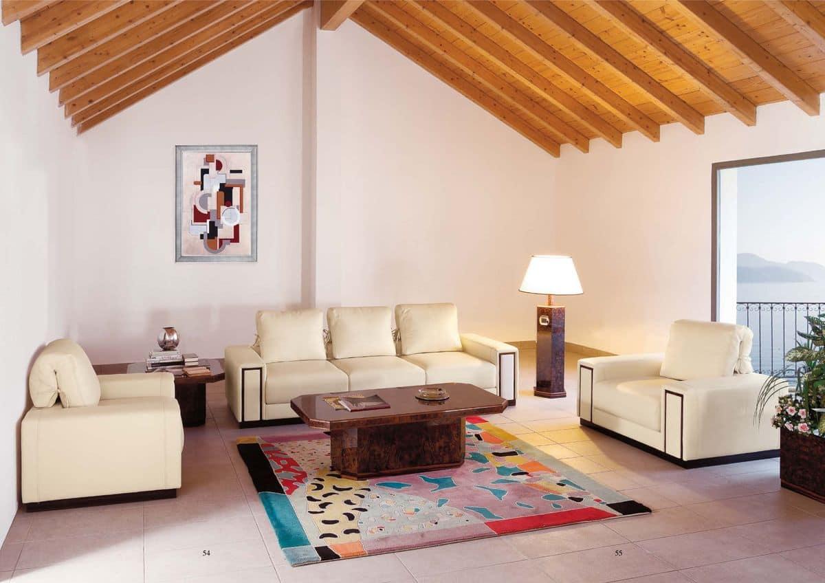 Gepolstertes Sofa für Wartezimmer oder zu Hause verwenden im ...