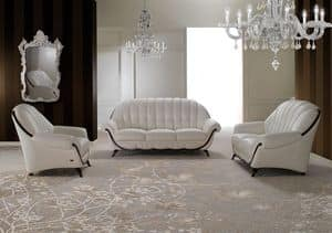 Pompei, Zweisitzer-Sofa, neoklassizistischen Stil, abgerundete Form