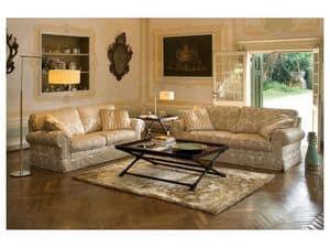 Positano, Klassisches Sofa-Bett, mit abnehmbarem Stoff, Feder zurück