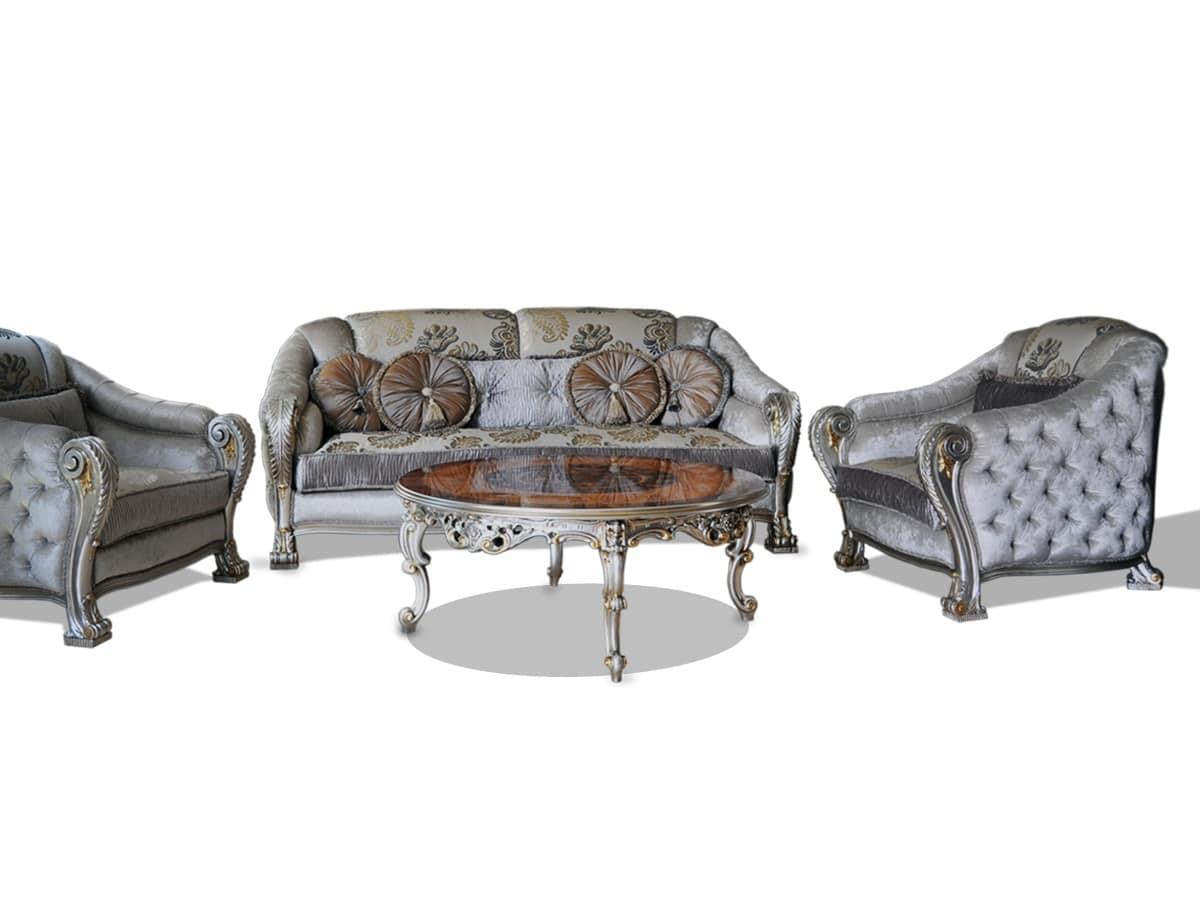 luxus sofa hand geschnitzt in edlen stoffen gepolstert idfdesign. Black Bedroom Furniture Sets. Home Design Ideas