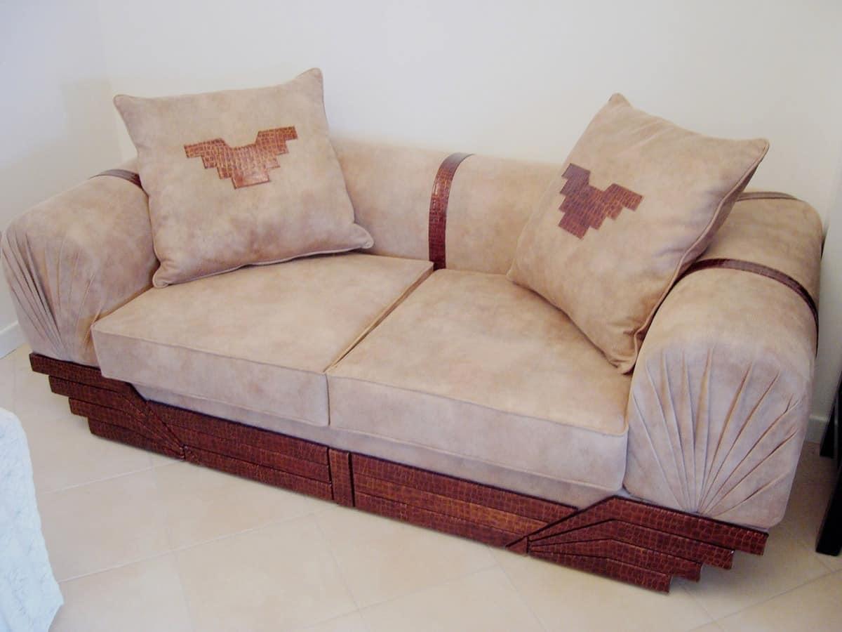 zweisitzer sofa bedeckt in mikrofaser und leder idfdesign. Black Bedroom Furniture Sets. Home Design Ideas