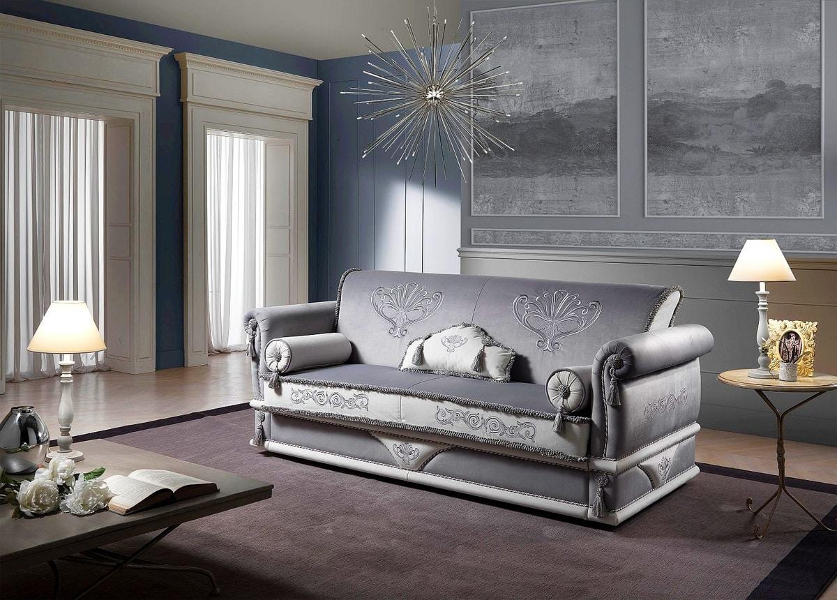 UNIQUE, Sofa mit dekorativen Kissen