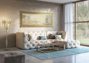 Venere Sofa, Modulares Sofa mit Capitonné-Dekor
