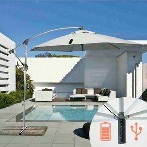Sonnenschirm Garten Usb – GA300USB, Sonnenschirm mit Ladegerät mit USB-