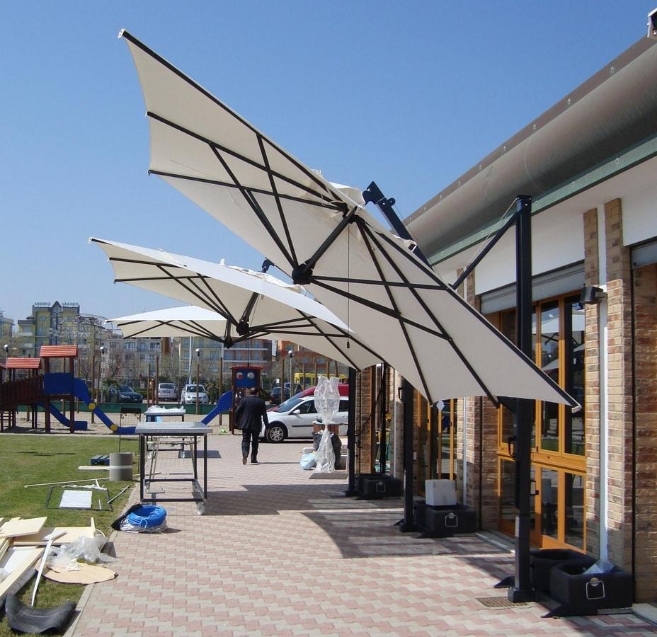 galileo einziehbar, Sonnenschirm mit einziehbaren Verriegelungssystem