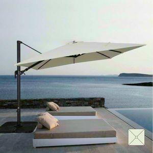 Garten Sonnenschirm 3x3 Quadrat Aluminium Arm Bar Hotel WIEN - VI303POL, Quadratischer verstellbarer Sonnenschirm mit Arm