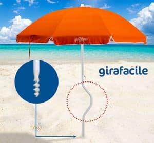 Patentierter Sonnenschirm Girafacile – GF200COT, Umbrella maximalen Sonnenschutz für den Strand