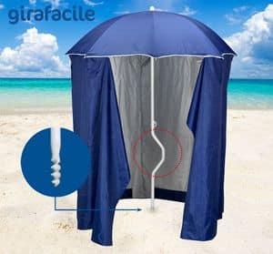 Patentierter Sonnenschirm Girafacile – GF200TUV, Sonnenschirm mit Zelt für Strände