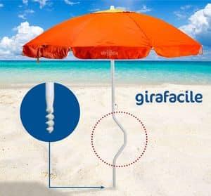 Patentierter Sonnenschirm Girafacile – GF200UVA, Strandschirm einfache Montage