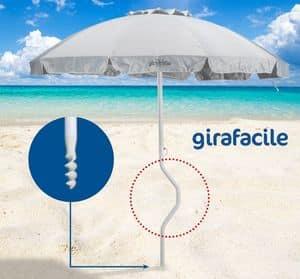 Patentierter Sonnenschirm Girafacile - GF220UVA, Regenschirm mit 2,20 m Durchmesser geeignet für den Strand