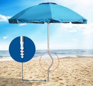 Girafacile Regenschirm patentiert – GF22ALUV, Aluminium Regenschirm, winddicht, für Strände