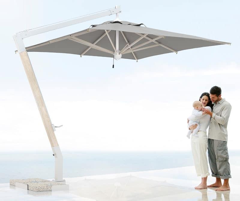 Milano arm, Sonnenschirm mit Asche Tragarm