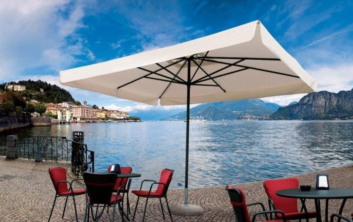 Napoli standard, Sonnenschirm für Kiosk, Aluminiumrahmen, Leicht