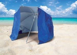 Strand Sonnenschirm Piuma – PI160UVA, Sonnenschirm mit Zelt UVA- und UVB- Schutz für Strand geeignet