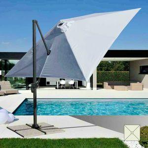 Professionelle Aluminium-Garten Schirm – PA303UFR, Regenschirm mit Arm, für Schwimmbäder und Restaurants im Freien
