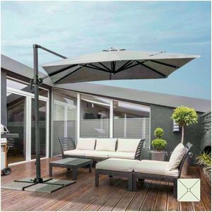 Sonnenschirm Garten 2,5 Meter Vierkant Arm Aluminium Bar Hotel PARADISE - PA250UVA, Quadratischer Sonnenschirm mit seitlichem Arm
