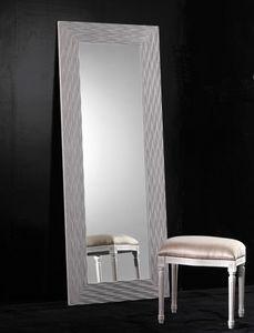 Art. 20302, Rechteckiger Spiegel mit Holzrahmen
