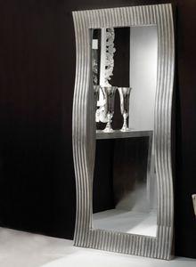 Art. 20712, Rechteckiger Spiegel mit wellenförmigem Rahmen