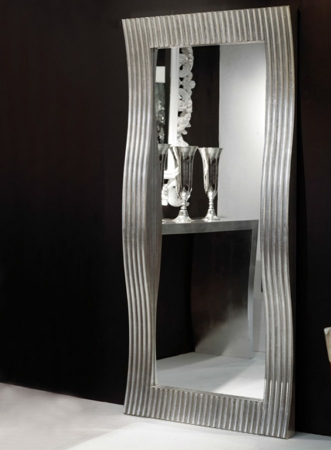 Rechteckiger Spiegel mit wellenförmigem Rahmen | IDFdesign