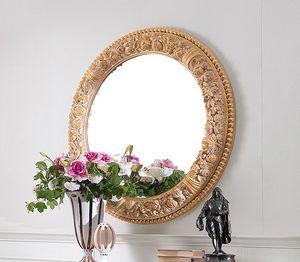 Art. 234/S, Klassischer runder Spiegel mit geschnitztem Rahmen