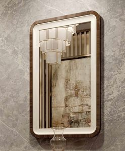 ART. 3378, Spiegel mit Leder- und Eukalyptusrahmen