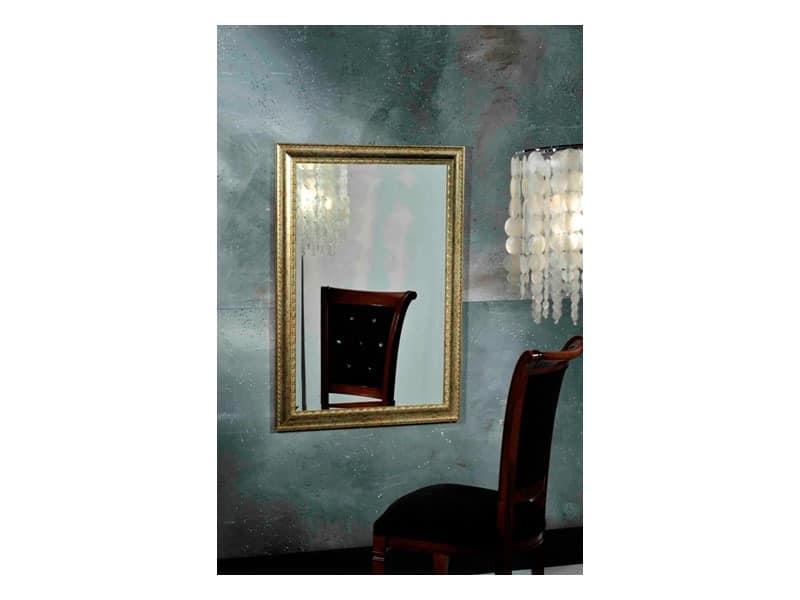 BALHAS mirror 8327M, Klassische Rahmen mit Veredelungen in Goldblättern