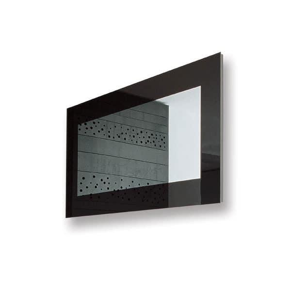moderne spiegel mit lackiertem rahmen f r b ro wartezimmer idfdesign. Black Bedroom Furniture Sets. Home Design Ideas