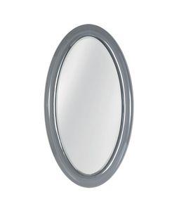 Ego Spiegel, Ovaler Spiegel mit gebogenem Glasrahmen
