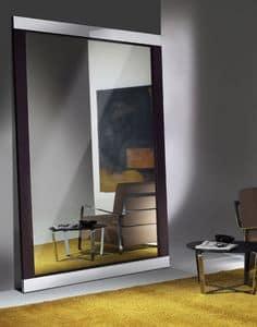 Hadaka, Design Spiegel mit Rahmen aus Stahl und Laminat
