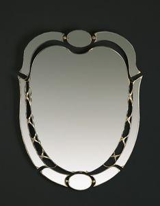 HF2007MI, Ovaler Spiegel mit goldenen Oberflächen