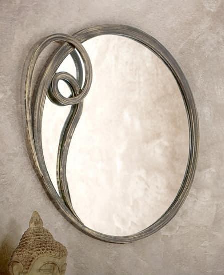 runder spiegel mit metallrahmen idfdesign. Black Bedroom Furniture Sets. Home Design Ideas