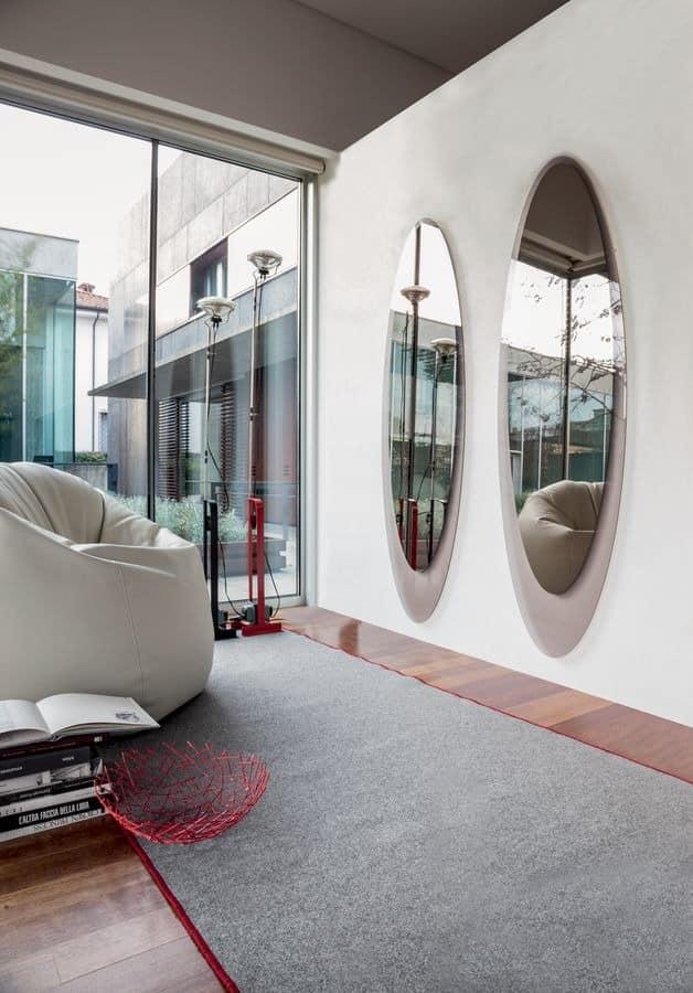 Elliptische Dekorative Spiegel Rahmen Silkscreened Wohnzimmer