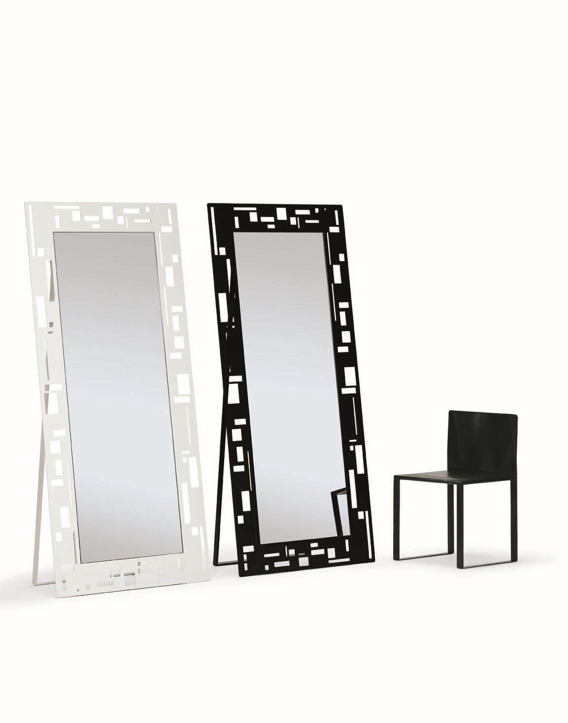 Rechteckiger Spiegel, mit modernem Design, ideal für Geschäfte und ...