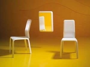 Reflex P, Moderne Spiegel, aus Holz und Leder, für Halle