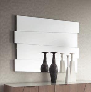Slash Art. 104.751, Rechteckiger Spiegel mit Eichenauflage