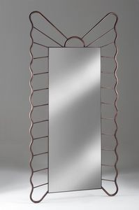 Specchiera Filicudi, Rechteckiger Spiegel mit Rahmen aus Schmiedeeisen