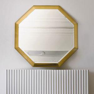 Stresa ST141, Achteckiger Spiegel mit Goldblattrahmen