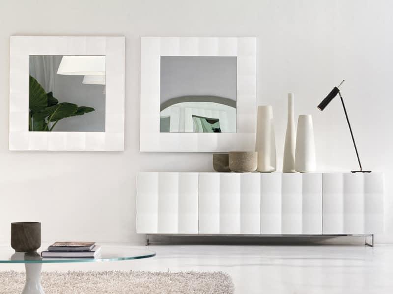 Quadratischer Spiegel mit mattem Rahmen | IDFdesign