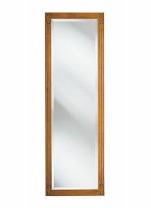 Villa Borghese Garderobenspiegel 9371, Spiegel mit Holzrahmen