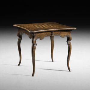 Kunst. B33 Spieltisch, Tisch mit Schachbrett und Backgammon
