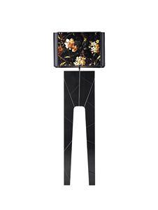 740303 Zarafa, Stehlampe mit Sockel aus lackiertem Massivholz