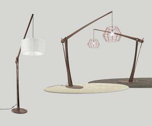 Archita Stehlampe, Stehlampe aus Holz, verstellbar und anpassbar