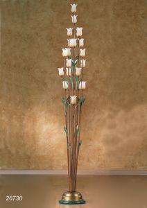 Art. 26730 Butterfly, Stehlampe mit dekorativen Blumen in Muranoglas