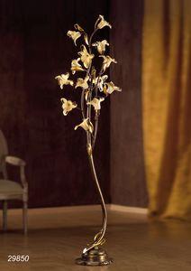 Art. 29820 Jolie, Stehlampe mit floralen Glasdekorationen