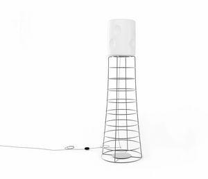 ET, Eisenstablampe, Lampenschirm aus Kunststoff