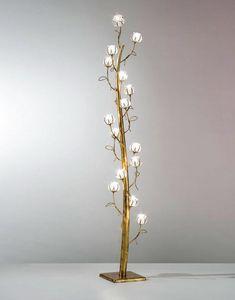 Flora Mp277-185, Stehlampe mit 17 Leuchten in Form von Blumen