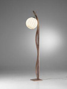 Sfera Rp370-180, Stehlampe mit Kugel Diffusor, mit einer ethnischen tase