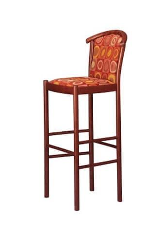 407 SG, Traditionelle Stuhl aus Buche, mit zurück, für Bars